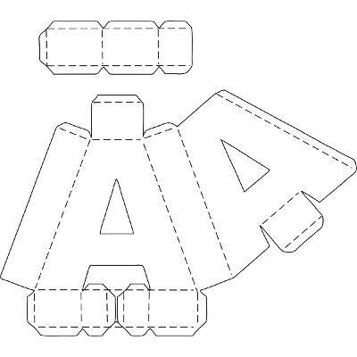 Tutorial de Artesanías: Letras 3 D en cartón