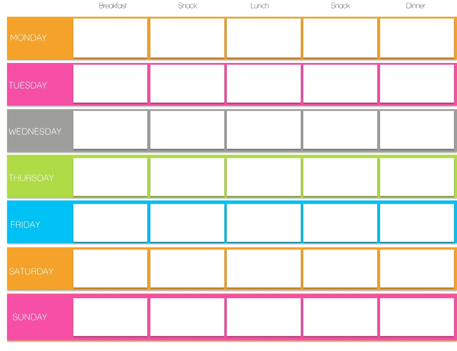 This Is What I Use For My Daily TIU Meal Planners And Food Logs Weekly Exercise Log Sheet By Sparkunder24