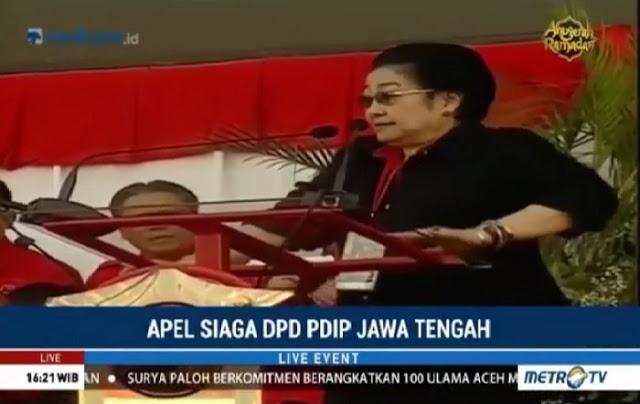"Ngakak!! Apel Siaga PDIP, Megawati : Apa Kita Setuju Dijajah Lagi? Massa PDIP : ""Setujuu!!!"", Ini VIDEOnya"