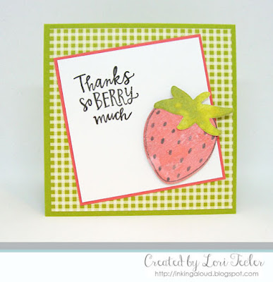 Thanks So Berry Much card-designed by Lori Tecler/Inking Aloud-stamps and dies from Reverse Confetti