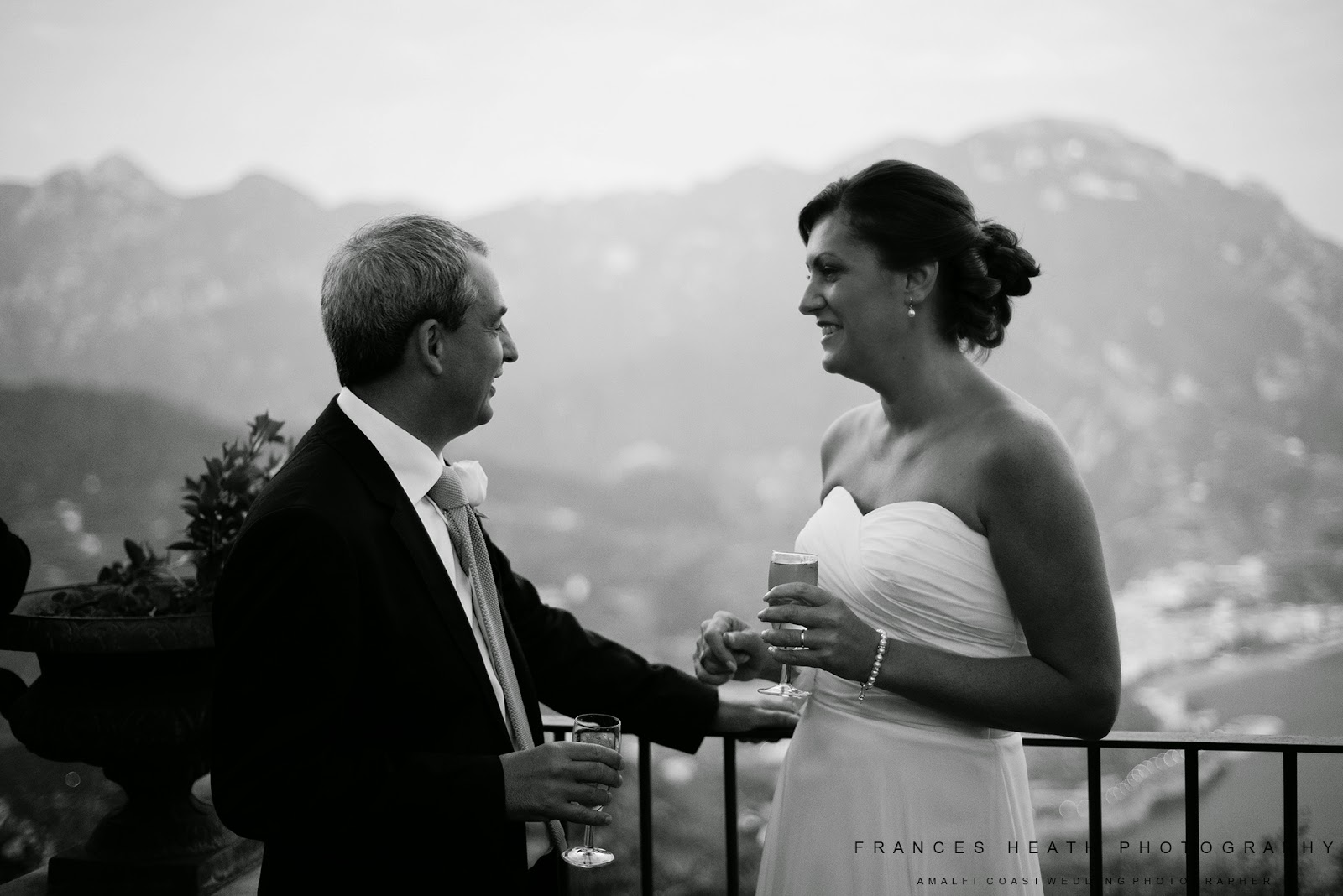 Bride and groom at Villa Eva Ravello
