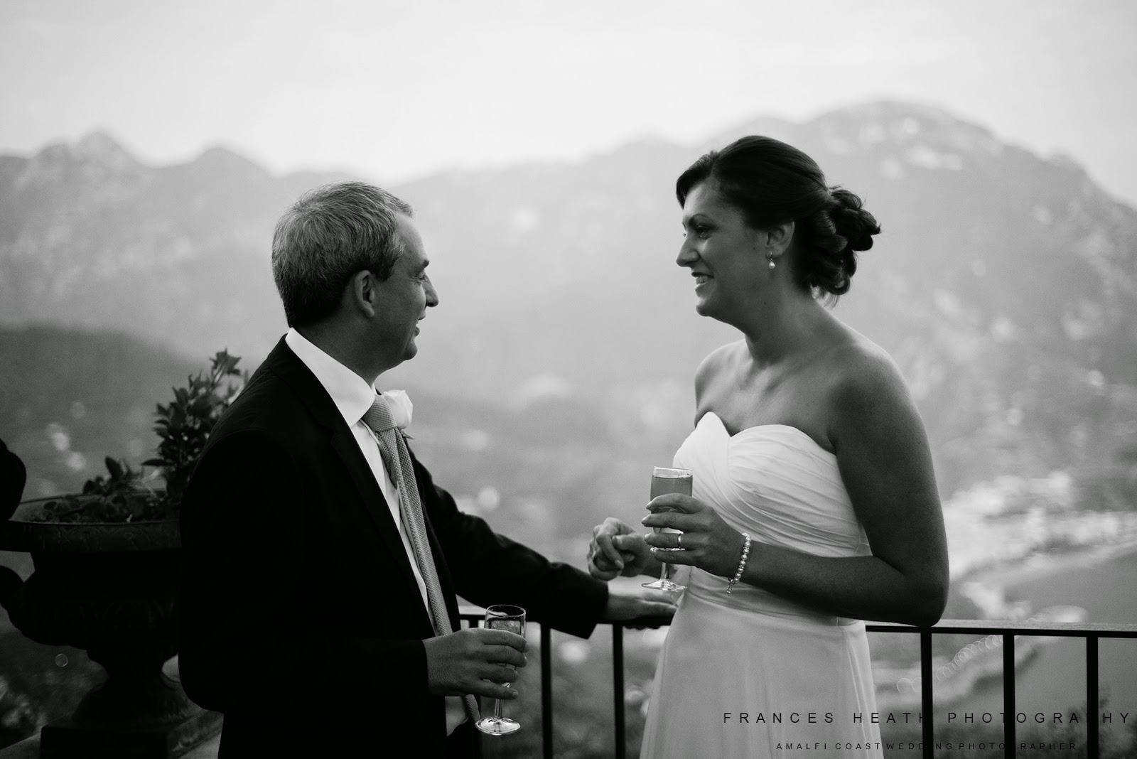 Bride and groom at Villa Eva Ravello