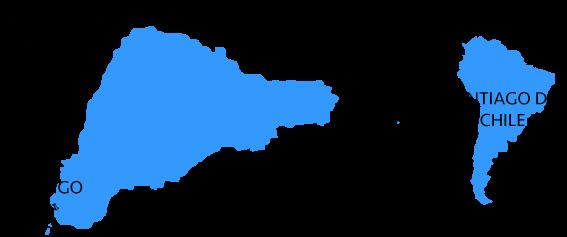 Mapa de situacion de la isla de Pascua y Chile