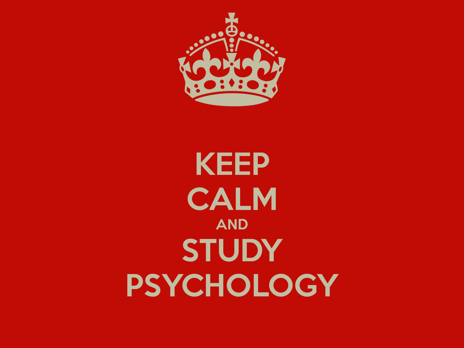 Starting with psychology