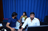 Actress Catherine Tresa Pos during Self Dubbing for Gautham Nanda Movie  0018.JPG