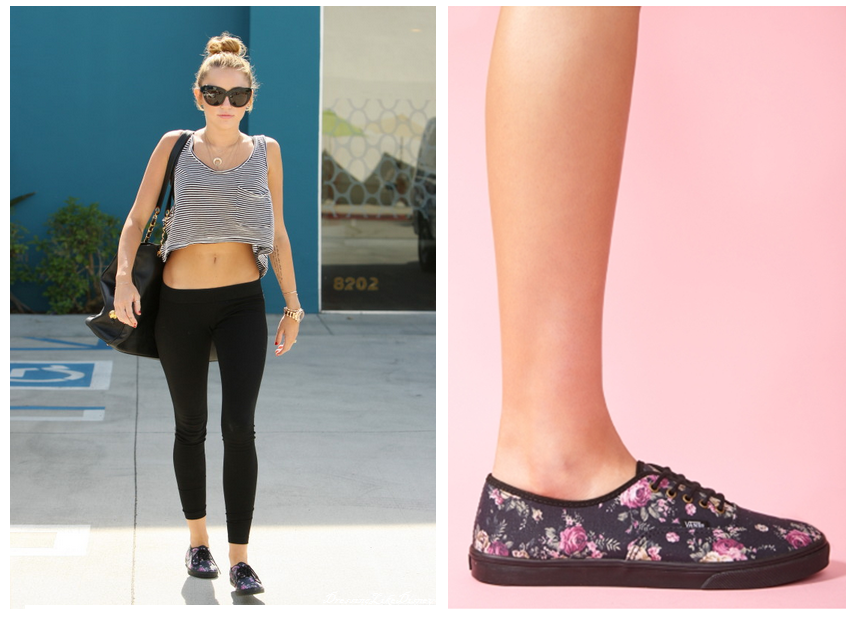 Miley Cyrus  Floral Authentic Lo Pro Vans  306e483fc