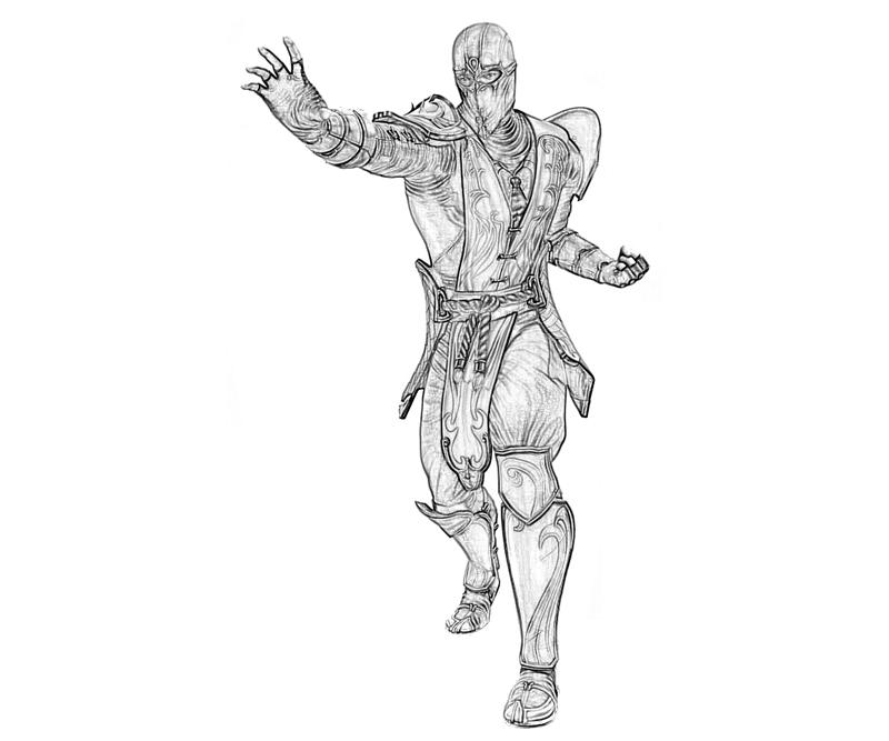 Rain From Mortalkombat 11 Free Coloring Pages