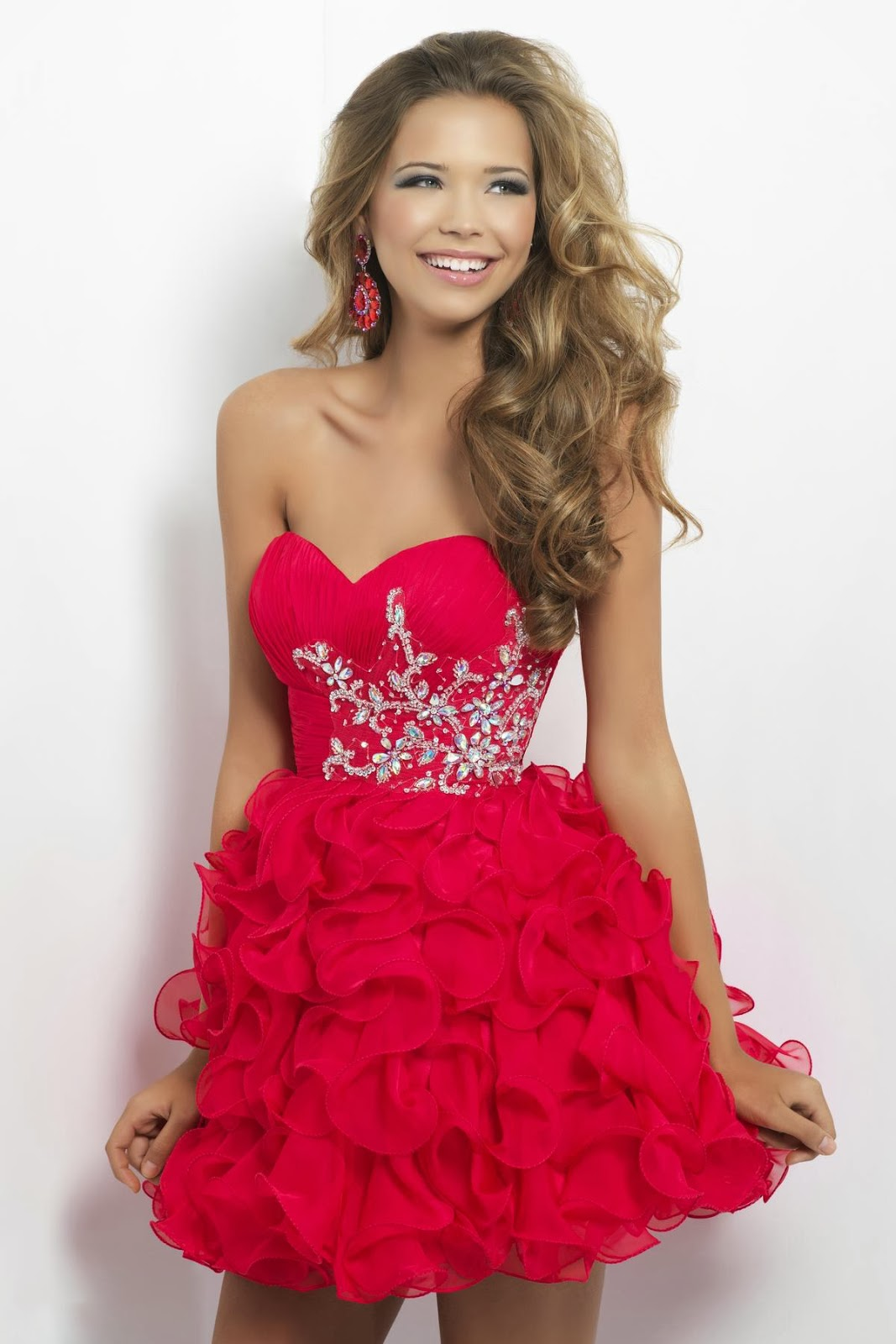 Hairstyles 2013: Red homecoming dresses 2014