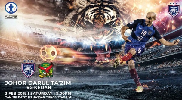 Live Streaming JDT Vs Kedah 3.2.2018 Piala Sumbangsih