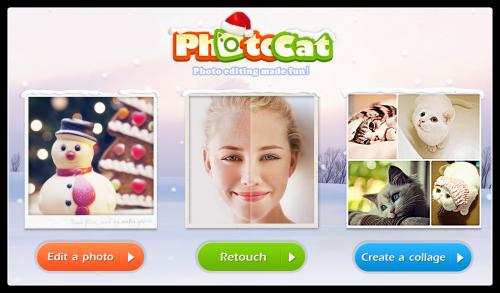 Photocat — онлайновый фоторедактор для новогодних снимков