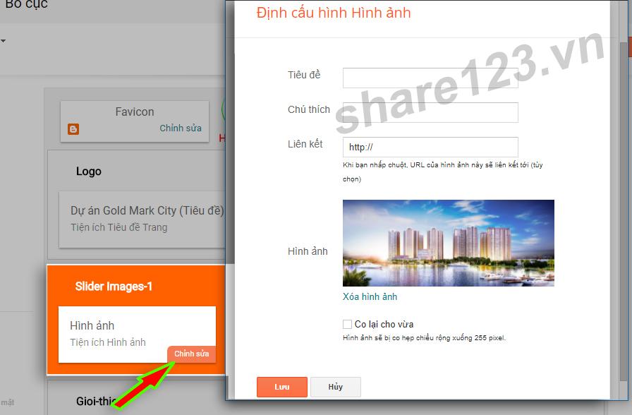Hướng dẫn tạo slider ảnh blogspot kết hợp Bootstrap