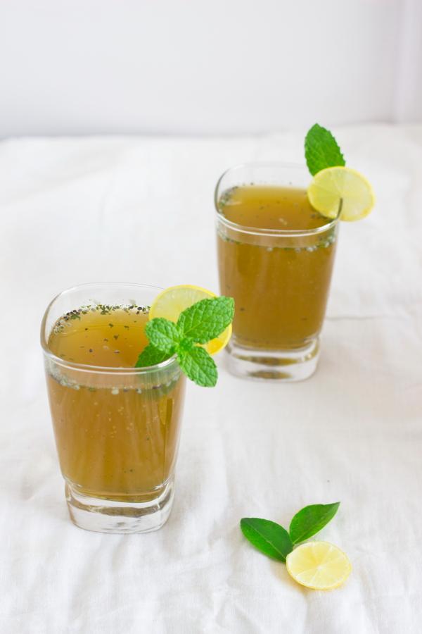 Pudina lemon juice limonana chia basil seeds sabze ka beej