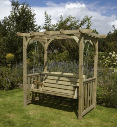 HGG Swing Arbour - Outdoor Patio Solid Wood Garden Furniture, Outdoor Patio Swings, Outdoor Furniture, Swings, Outdoor Swings, Gliders, Wicker Outdoor Patio Swings, Wood Outdoor Patio Swings, Wicker Patio Swings, Wood Outdoor Patio Swings,