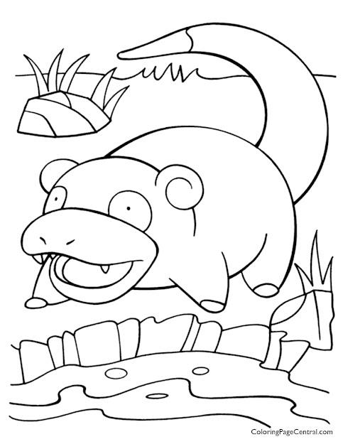 Pokemon  Slowpoke Coloring Page