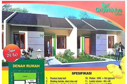 Griya Mulya Indah Rumah Subsidi Baru Di Cikarang Selatan Bekasi