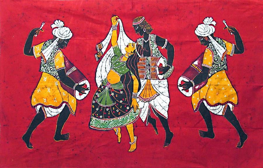 Handicrafts Of India Batik Paintings Of India