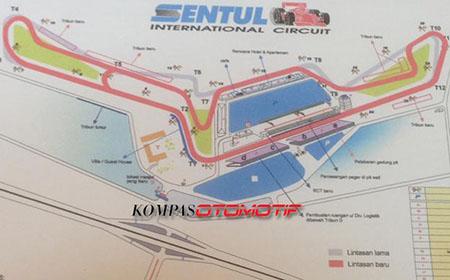 Desain Sirkuit Sentul Moto GP 2017-2019 (kompas)