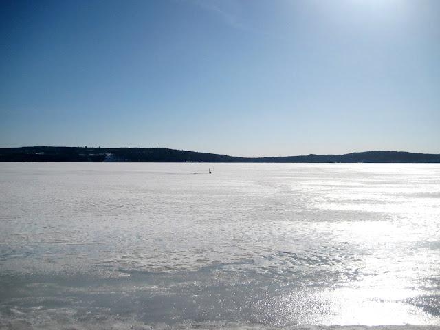 maisema, järven jää