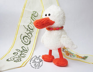hand knitted duck plushy to help celebrate Easter