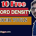Top 10 Free keyword Density Checker Tool