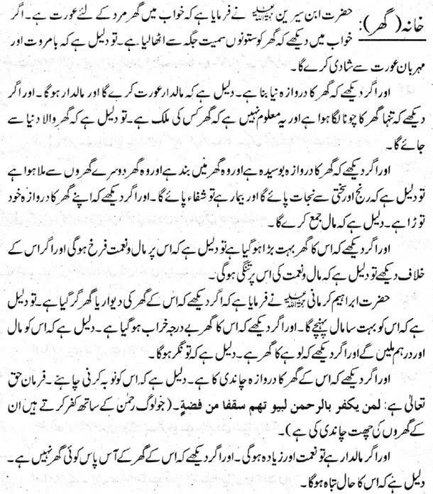 Khwab mein Ghar Dekhna | Khawab Mein Ghar Dekhne Ki Tabeer