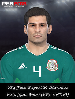PES 2018 Faces Rafael Marquez By Sofyan Andri