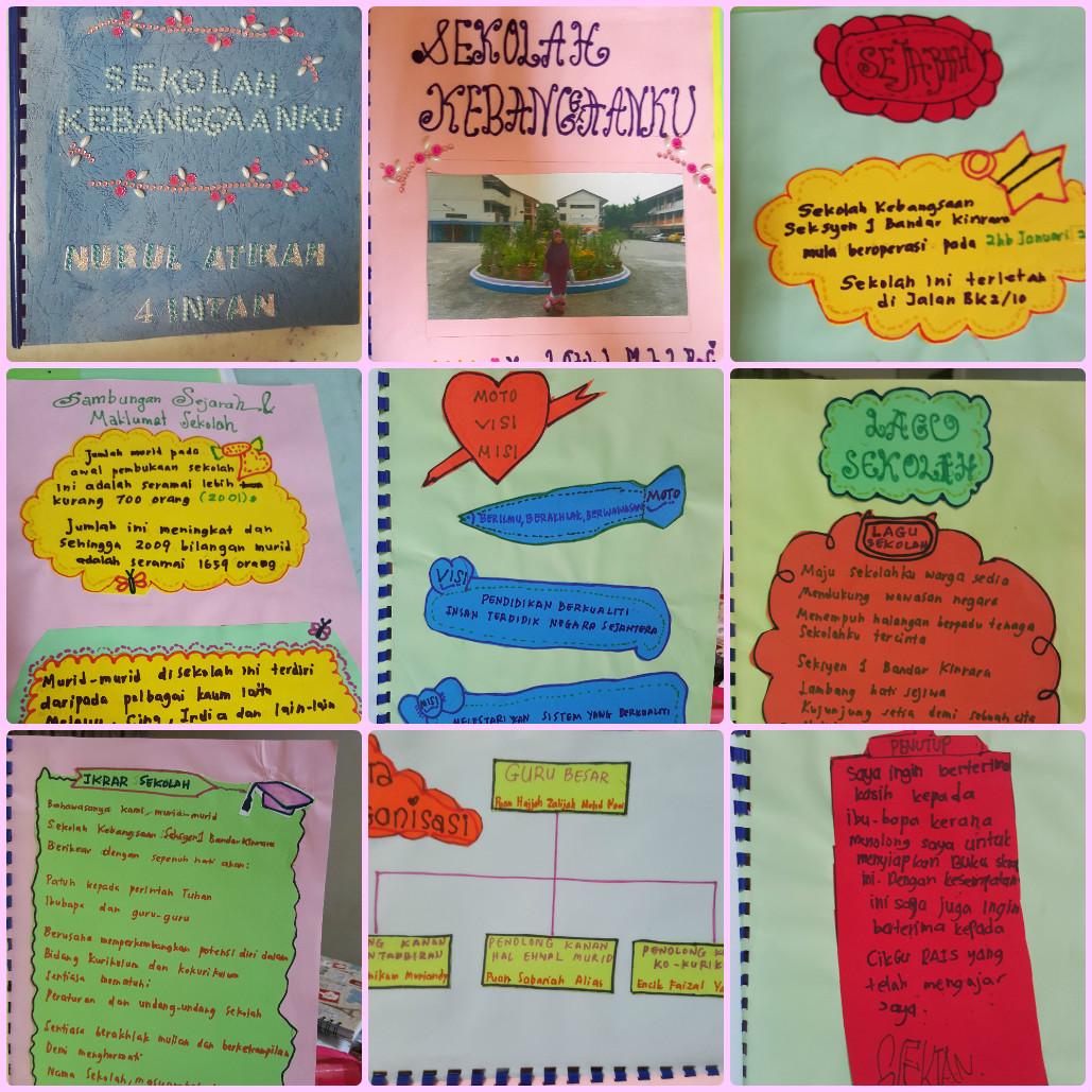 Our Wonderful Simple Life Buku Skrap Sekolah Kebanggaanku