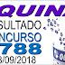 Resultado da Quina concurso 4788 (28/09/2018) ACUMULOU!!!