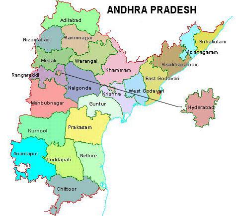 Andhra Pradesh Map, A.P districts