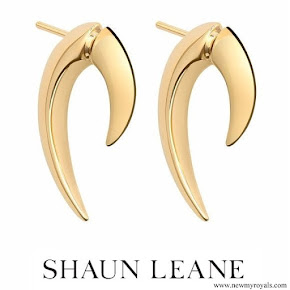 Meghan Markle wore Shaun Leane Yellow Gold Vermeil Talon Earrings