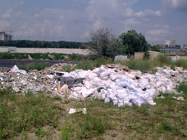 мусор у озера Горячка