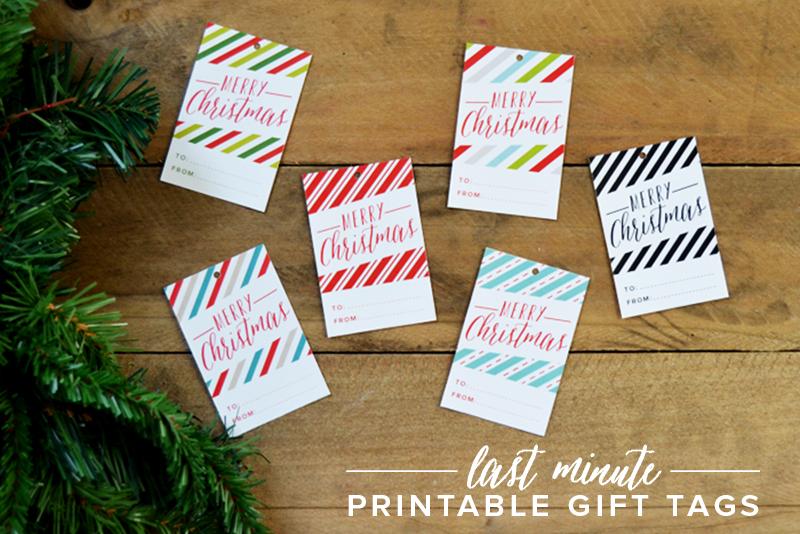 LAST MINUTE Printable Christmas Gift Tags