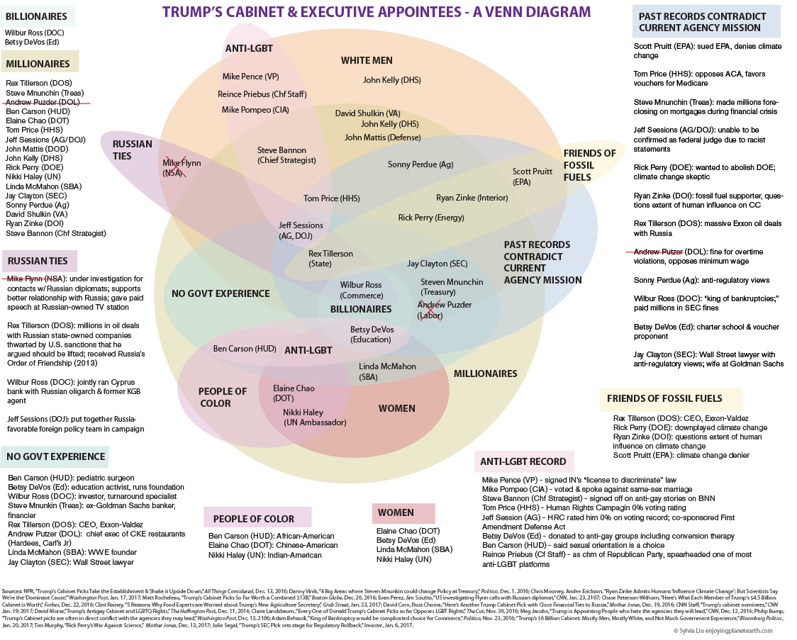Sylvia Liu Land: A Venn Diagram of Trump's Cabinet & Executive Picks