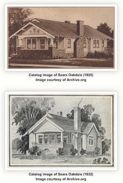 Sears Oakdale bungalow • two versions over the years