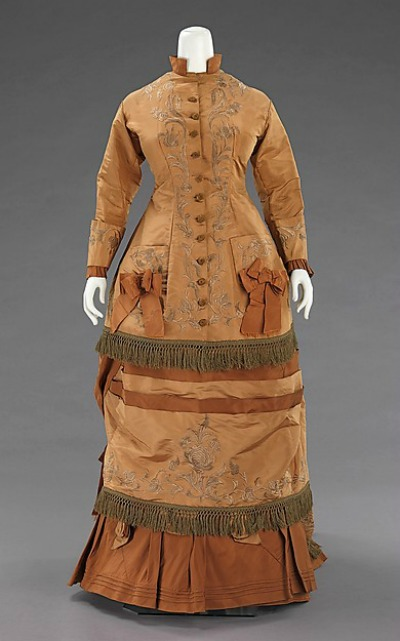 1874 Dress Made From a Paper Pattern Bought In Paris