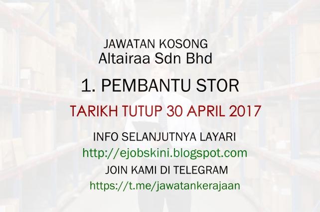 Jawatan kosong terkini di Altairaa Sdn Bhd