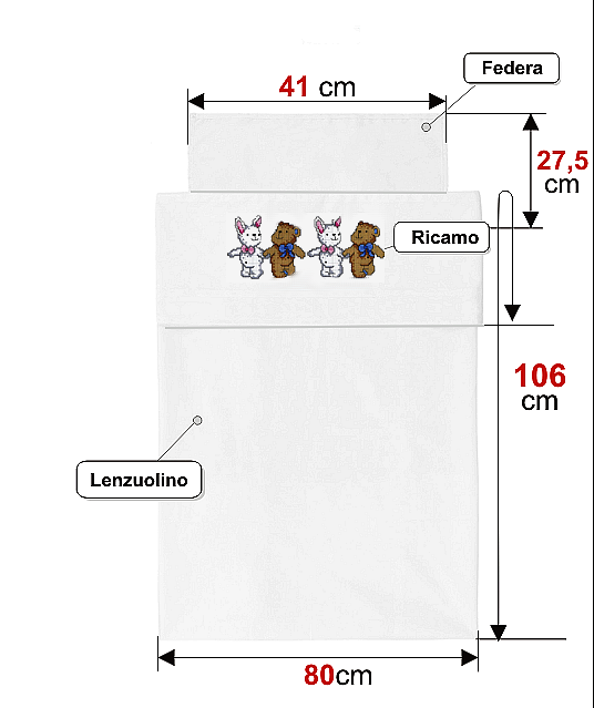 Ricami e schemi a punto croce gratuiti utilit for Misure cuscino carrozzina