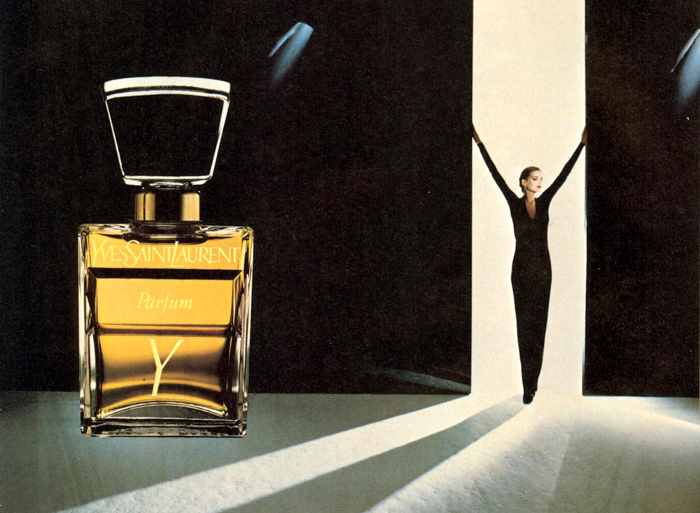 Y by Yves Saint Laurent perfume ad campaign 1981 via www.fashionedbylove.co.uk