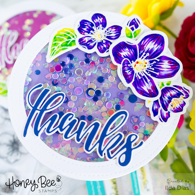 Circle Shaped Shaker Thank You Cards by ilovedoingallthingscrafty