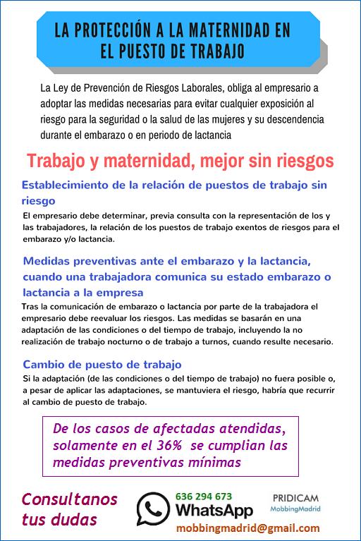 Mobbing Madrid Se cumple la protección a la maternidad en el puesto de trabajo