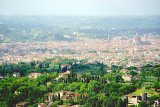 Fiesole offers panoramic views across Florence