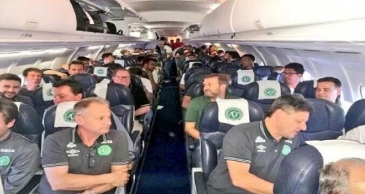فيديو صادم لآخر دقائق عاشها الفريق البرازيلي قبيل تحطم طائرتهم