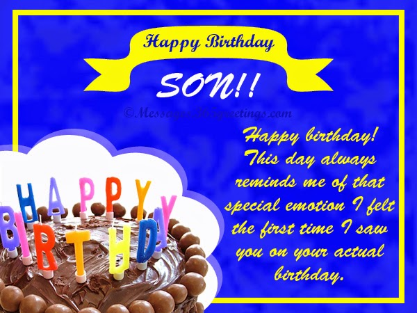 Birthday Greetings Card For Son Wishes Page 03