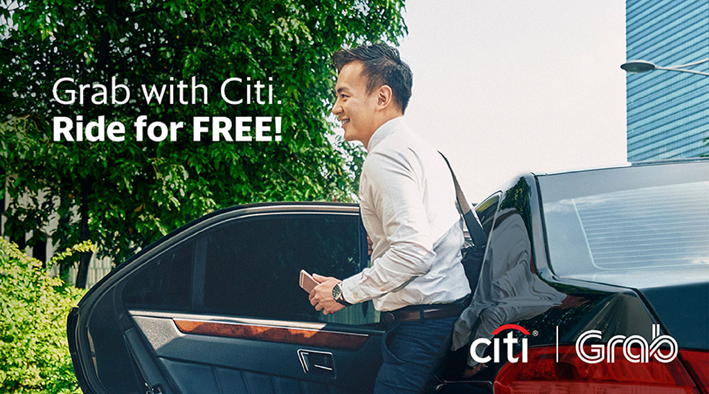 Get free Grabcar rides with Citibank