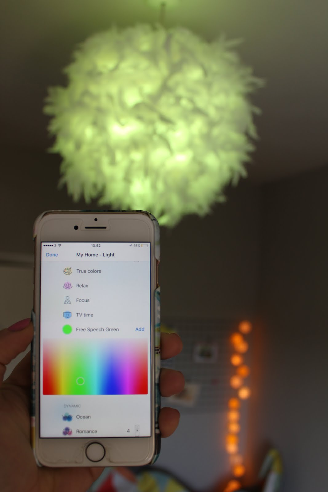 Coloured Bulbs Smart Lighting