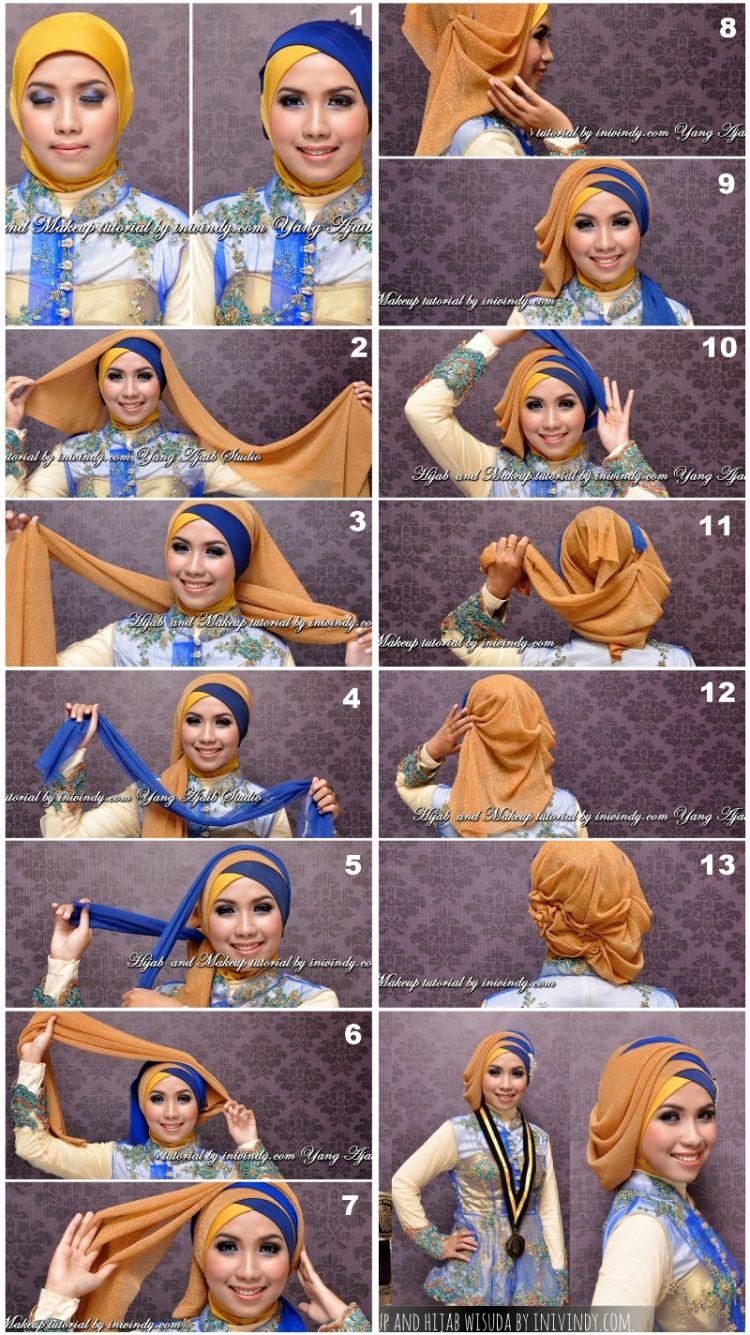 Tutorial Hijab Layer Dua Warna Pas Untuk Acara Formal