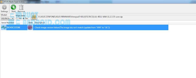 Update ASUS Flash Tools Versi 1.0.0.17
