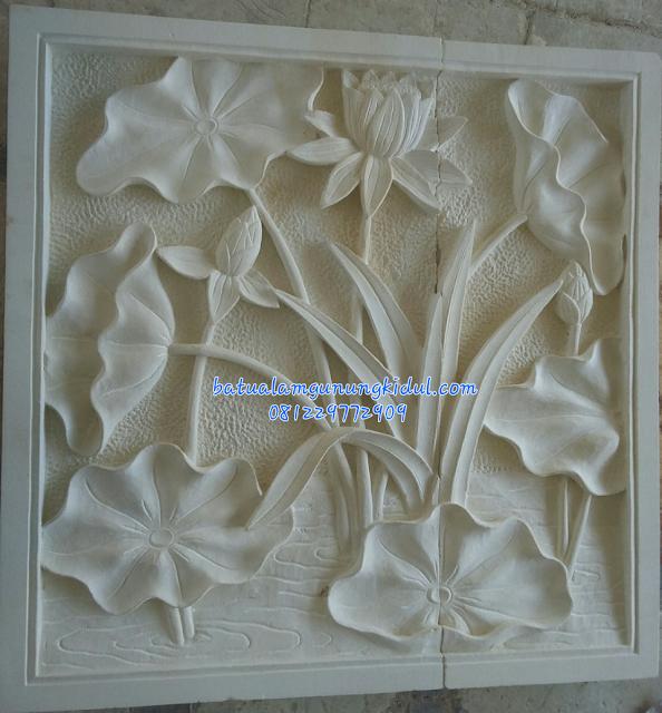 Relief Motif Bunga Lotus-Relief Bunga Teratai