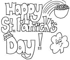 st patricks day clipart black and white