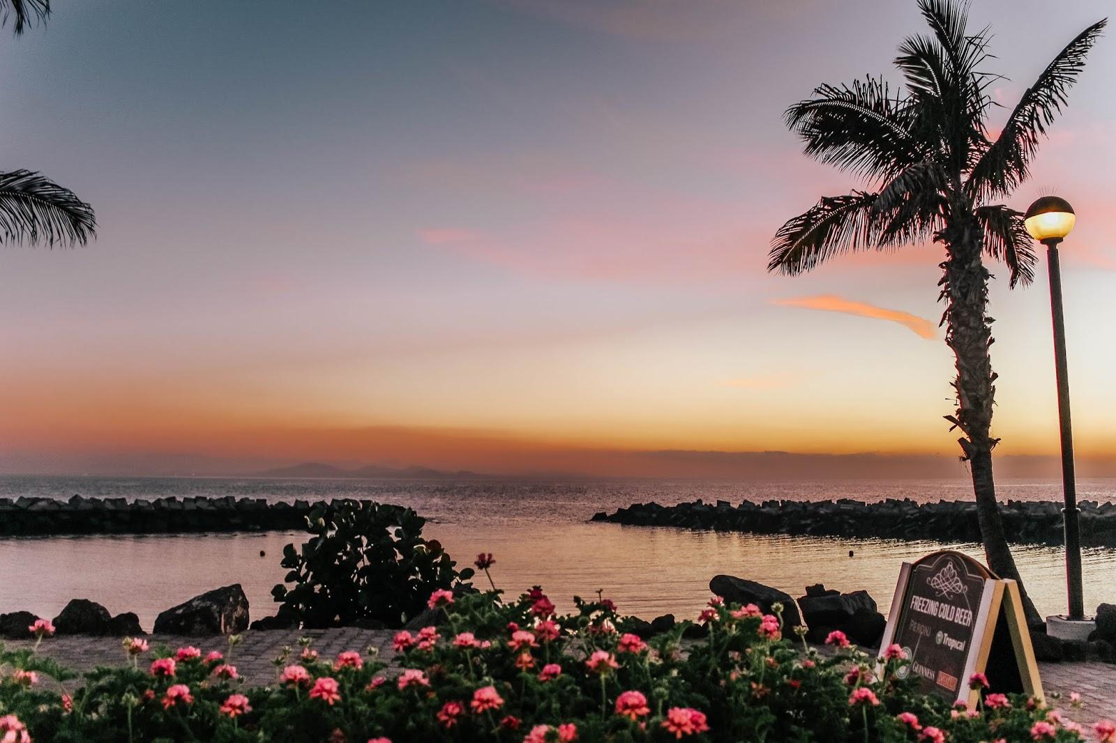 Spain Lanzarote Playa Blanca Sunset